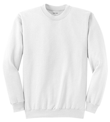 Joe's USA Adult Classic Crewneck Sweatshirt, M -White ()
