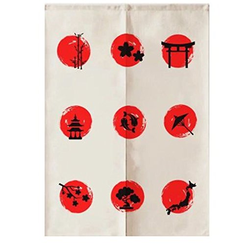LUNA Sushi Bar Decoration Japanese Curtains Door Hallway Hanging Curtains (A12) by LUNA