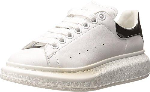 Alexander McQueen Sneaker Pelle S.Gomma, White/Silver, 36 (US Women's 6) B-Medium