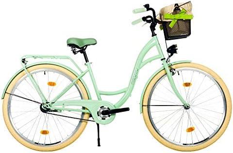 28 3 Velocidades Urbana C/ómoda Bicicleta de Ciudad Milord Bici de Paseo