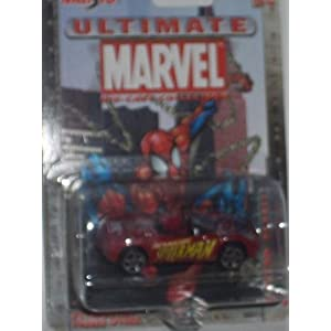 Maisto Ultimate Marvel #24 Spider-Man Plymouth Pronto Spyder 1:64 Scale Diecast Car Spiderman