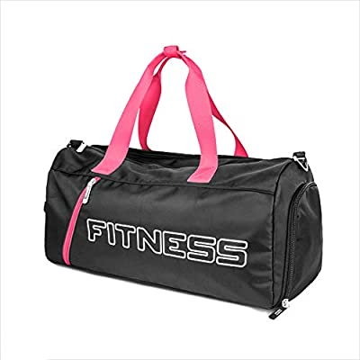 Size : 46x22.5x24cm XF Gym Totes Fitness Bag Female Bag Tide Dry Wet Separation Light Training Waterproof Sports Bag Yoga Swimming Bag Simple Small Twill-46x22.5x24cm Gym Bags