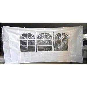 Amicasa. Parete per Gazebo 200 cm Raffia Colore Bianco 11 spesavip