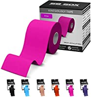 SB SOX Kinesiology Tape (16ft Uncut Roll) – Best Latex Free, Water Resistant Tape for Muscles & Joints – Perfect for Any...