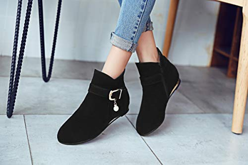 Ou Fait Shopping slip Anti Partie Couleur Suede La Pour Adong A Main Rond Chaussures Un Tempérament Womens Confortable Bout Lacets Plates Le 39eu Bottes Unie 5xwUzHxvq