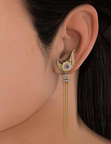 18K Or jaune 0,26CT TW White-diamond (IJ | SI) et améthyste Pendants d'oreilles