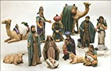 Duncan Christmas Ceramic Nativity 15 piece set 7'' to 9'' Ceramic Bisque, Ready To Paint