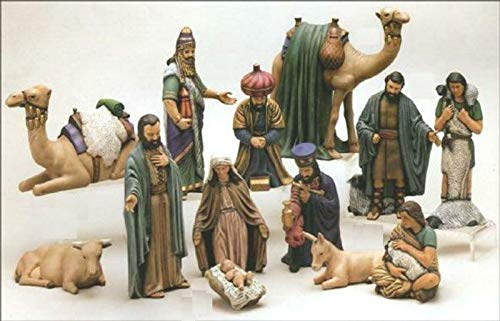 Duncan Christmas Ceramic Nativity 15 piece set 7'' to 9'' Ceramic Bisque, Ready To Paint by Creative Kreations Ceramics (Image #2)