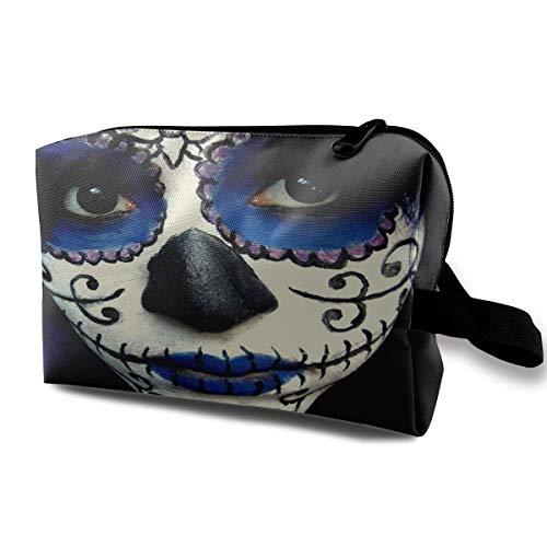 Makeup Bag Guy Sugar Skull Makeup Portable Travel Multifunction Cosmetic Bags Great Case For -