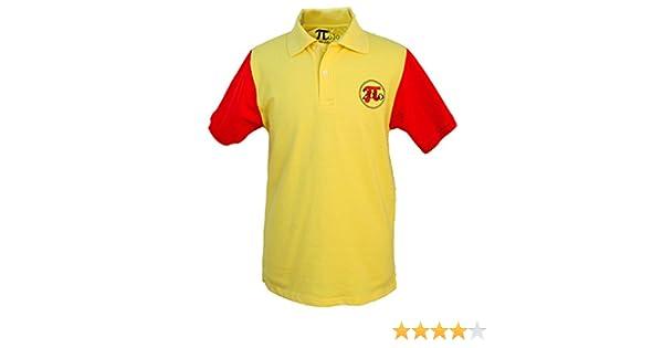 Pi2010 - Polo Hombre español Amarillo y Rojo/Bandera de España en Espalda/Fabricado en España algodón 220grs: Amazon.es: Ropa y accesorios