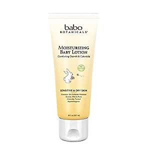 Babo Botanicals Oatmilk Calendula Moisturizing Baby Lotion, 8 Ounce - Best Baby Lotion for Soothing Sensitive Skin; Helps Relieve Eczema; Natural Oat and Organic Calendula