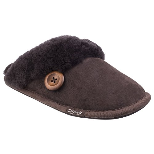Premium Cotswold Sheepskin Lechlade ladies Womens Slippers Mule Lined UFnvwXnq