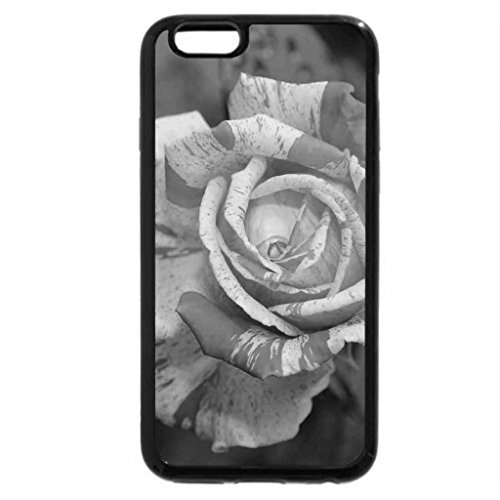iPhone 6S Plus Case, iPhone 6 Plus Case (Black & White) - Textured Rose