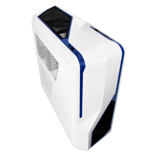 NZXT Phantom 410 Mid Tower Computer Case , White/Blue (Ati Crossfire Cable)