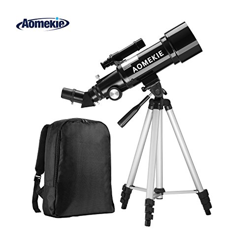 Aomekie F400x70MM Terrestrial Refractor Astronomy Telescope for Beginners, Travel Scope with Backpack and Adjustable Tripod
