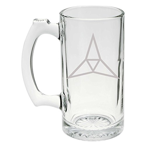(US Army - 3rd Corps SSI Patch Etched Stein Glass 25oz,)