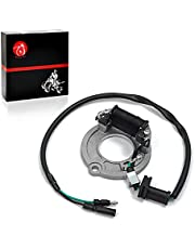 MOTO1988 Ignition Stator Coil Ignition Magneto For HONDA Replacement Stator with Connectors and Seals Compatible with Honda Motorcycle CR80R CR80RB CR85R CR85RB Left Crankcase Cover 1996-2004