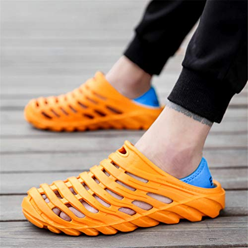 Walking Beach Water Garden Slippers Sandals Clogs Shoes Breathable Men's Quick Drying Orange Lightweight xzESxw