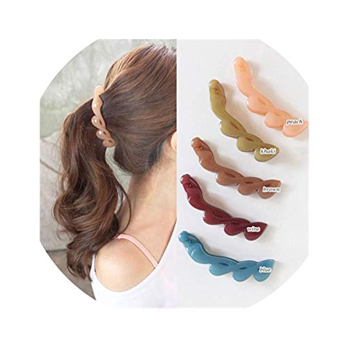 (New Fashion Girls Clamp Banana Hair Grip Clip Korean Hairpin Ponytail Holder Women Hair Clip Accessories,brown)