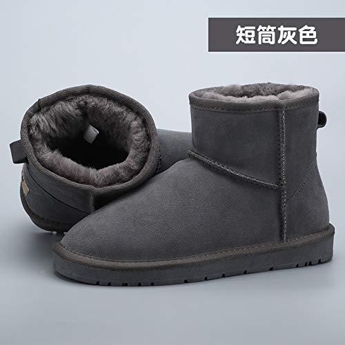 JYSSYLZH Schneestiefel 2018 Winter Schnee Stiefel In Der Röhre Frauen Stiefel Wasserdichte Stiefel Leder Männer Und Frauen Schuhe Baumwolle Schuhe