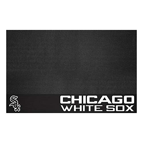 (Fanmats 12149 MLB Chicago White Sox Vinyl Grill Mat)