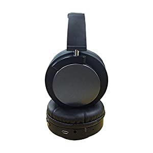 Style Pittsburgh_Steelers Football Folding Design Bluetooth Wireless Over Ear Headphones with Mic, Headsets for iPhone, iPad, Smartphone and TV, 3.5mm Plug Black at SteelerMania