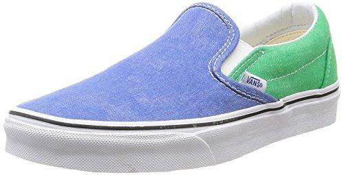 Vans U Classic - Zapatillas de Deporte de canvas Unisex Multicolor (Fern Green/Campanula)