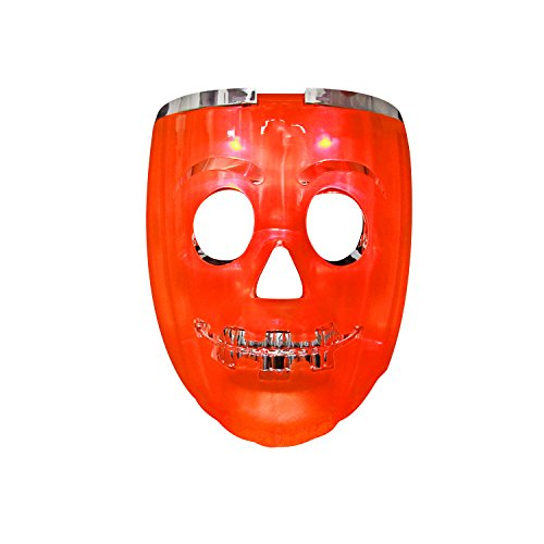 Skull Mardi Gras Scary Mask (Halloween Masks, DAXIN DX LED Skull Rave Mask - Anonymous Scary Mask - Pumpkin Lights 7 Modes 6 LED Colors)