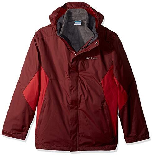 Columbia Men's Eager Air Interchange Jacket, Elderberry, red Element, L