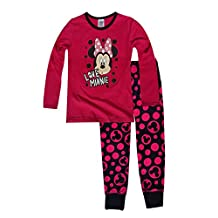 Girls Minnie Mouse Long Length Pajamas Age 4 to 8 Years