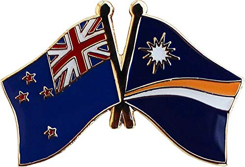 (Flagline New Zealand - Marshall Islands Friendship Lapel Pin)