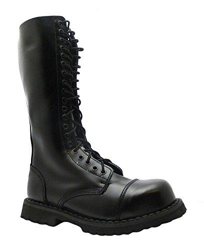 Grinders KING CS DERBY roi noir 20 trou hommes chers capuchon de sécurité Steel Toe Boots en cuir