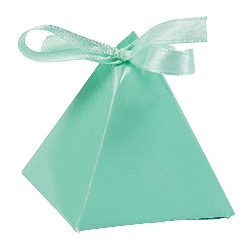 Mint Green Triangle Favor (Triangle Favor Boxes)