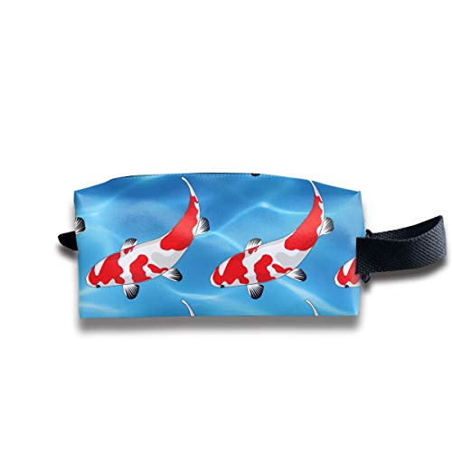 Pellets Fish Colored (Toiletry Bag Koi Fish Shaving Cosmetic Makeup Storage Travel Sundry Sewing Organizer Portable With Handle)