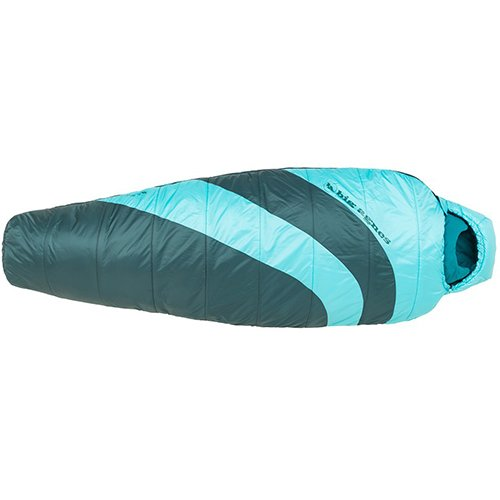Big Agnes Elsie 15 (Synthetic) Sleeping Bag, Pine/Turquoise, Petite Right