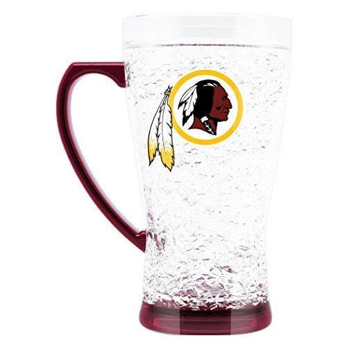 NFL Washington Redskins 16oz Crystal Freezer Flared Mug