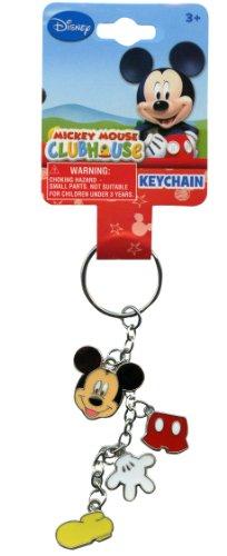 Disney Mickey Mouse Metal 4 Charm Dangle Keychain