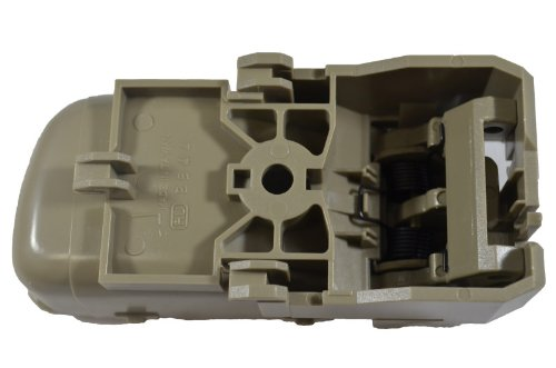 Beige//Tan PT Auto Warehouse NI-2544E3-LH - Driver Side Olive Inside Interior Inner Door Handle