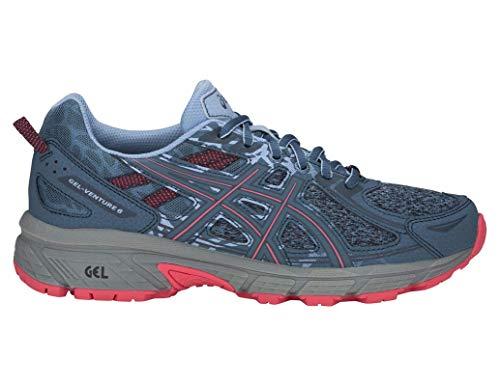 ASICS Gel-Venture 6 MX Women's Running Shoe, Steel Blue/Pink Cameo, 9 M US