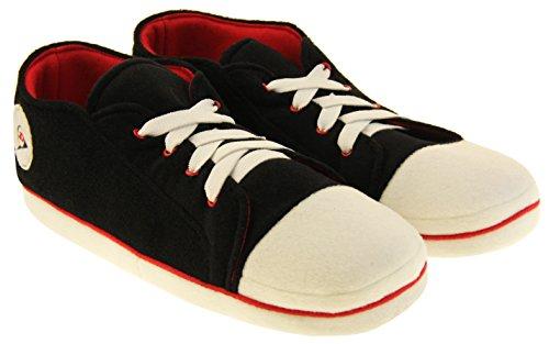 Noir D'entraînement Dunlop Nouveauté Chaud Sportif Chaussures Chaussure Hommes Molleton Pantoufle eBdCxo