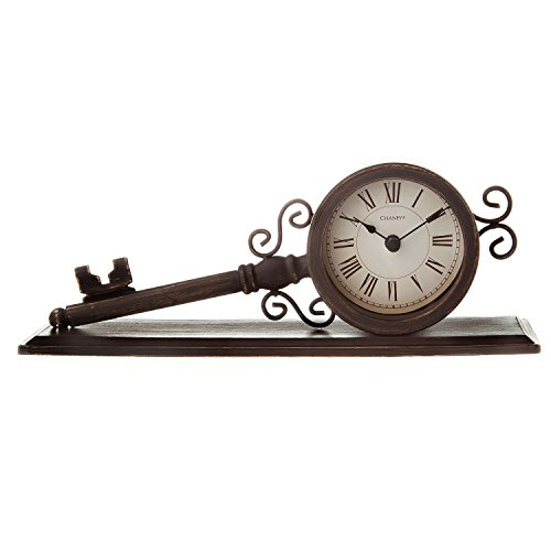 Chaney 75381KL Vintage Metal Key Clock - Chaney Metal Clock