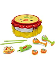 Fisher Price KFP2178 Lion Musical Band Drum Set, Multicoloured