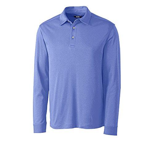 Cutter and Buck Long Sleeve Pima Belfair Golf Polo 2017 Wisteria Large ()
