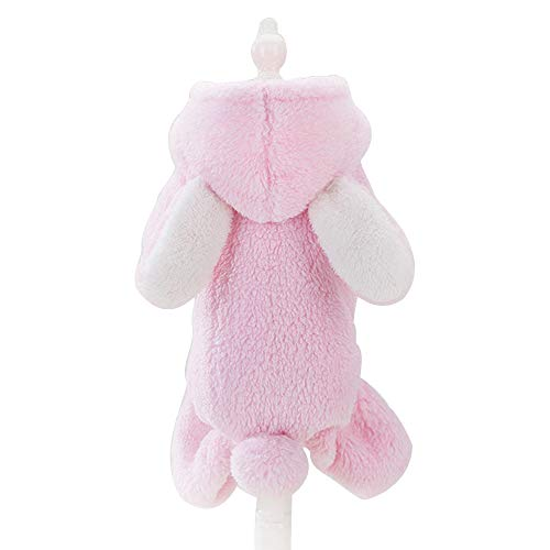 Spring Fever Dog Cat Cute Cozy Costume Coral Fleece Warm Winter Hooded Coat Rabbit S ()