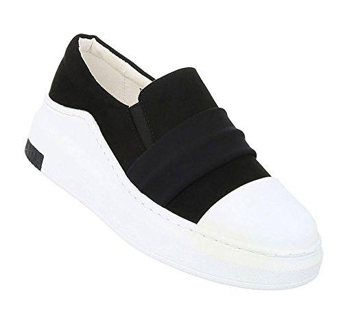 Low Flache Sportschuhe Sneakers Sneaker Turnschuhe Damen Freizeit n0wOkP