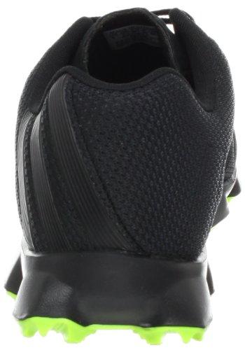 adidas Men's Crossflex Golf Shoe,Black/Black/Slime,10 M US
