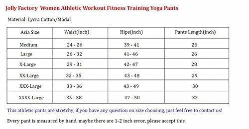 Ancia Women Athletic Workout Fitness Training Yoga Tights Capri Pants X-large Blue