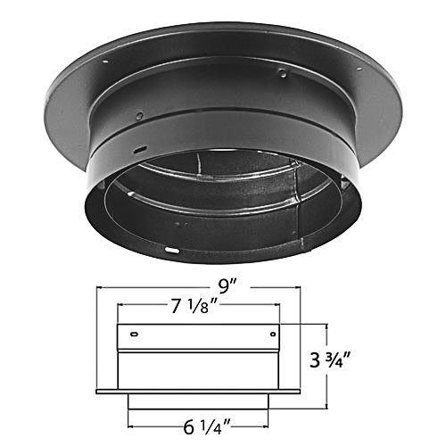 Black Double Wall Stove Pipe - DuraVent 6DVL-ADT 6
