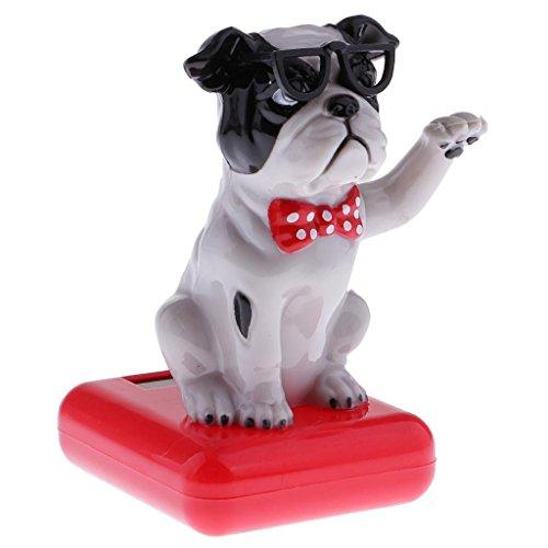FidgetFidget Solar Power Bobbing Head Puppy Bobble Head Dancing Dancer Toy Car Decoration