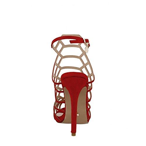 Gabbia Gold Rosso rosso Sandalo Gabbia amp; YxPP4wTE